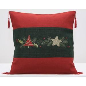 Vianočné obliečky na vankúšiky 40x40 cm
