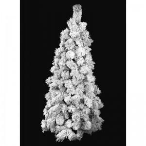 Zasnežená borovica vianočný stromček