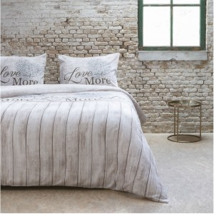 Béžové romantické posteľné obliečky 200x220