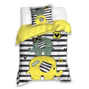 Obojstranná posteľná obliečka pre deti s motívom slona
