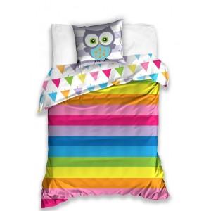Obojstranná obliečka pre deti na posteľ s dúhovými farbami