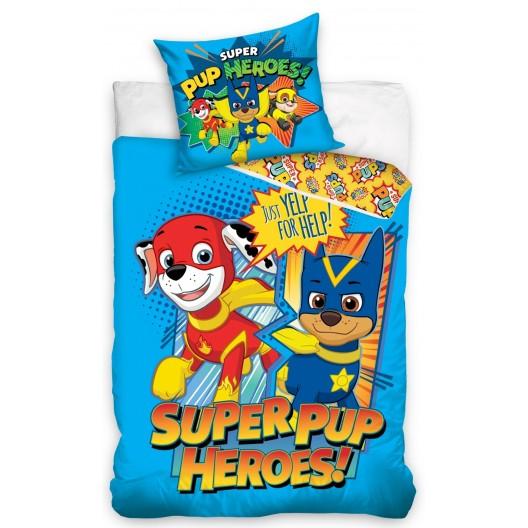 Originálna posteľná obliečka pre deti v modrej farbe PAW PATROL