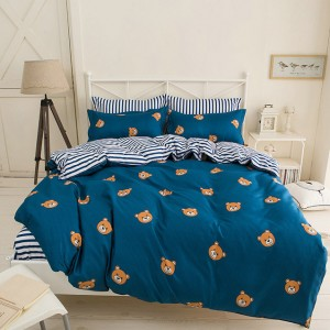 Detská obojstranná obliečka na posteľ v tmavo modrej farbe