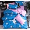 Obojstranná modrá obliečka pre deti s kreslenými zebrami