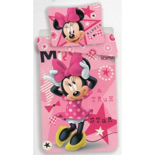 Minnie Star dievčenská obliečka na posteľ v ružovej farbe