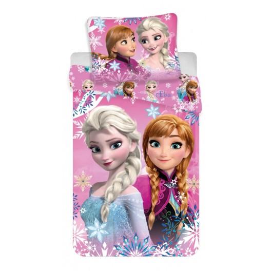 Ružová posteľná obliečka pre dievčatá s motívom FROZEN