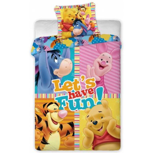 Farebná detská obliečka na posteľ s motívom MACKO PU