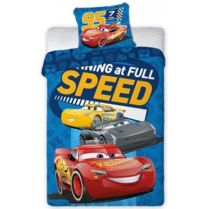 Modrá chlapčenská obliečka na posteľ v motívom CARS