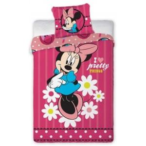 Dievčenská návliečka na posteľ v ružovej farbe MINNIE