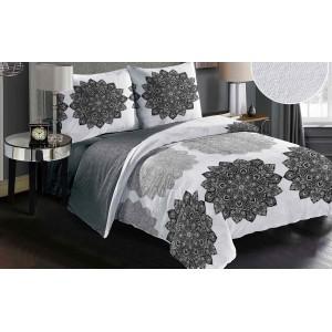 Luxusná posteľná návliečka s čiernym motívom