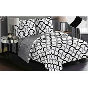 Originálna obliečka do spálne v bielej farbe s moderným motívom