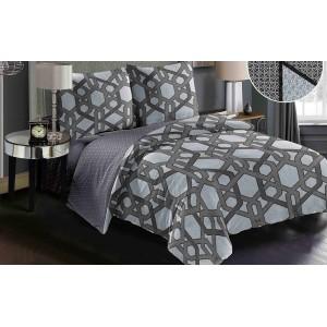 Moderná obojstranná obliečka v sivej farbe s originálnym vzorom