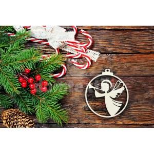 Anjelik vianočná ozdoba z dreva
