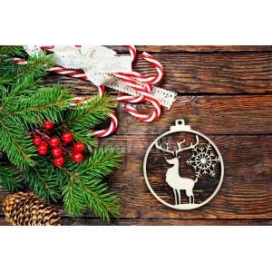 Vianočná dekorácia z dreva so sobom