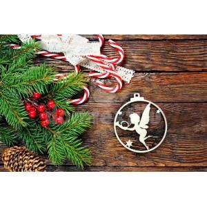 Drevená dekorácia na vianočný stromček anjelik