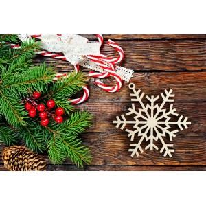 Vločka ako dekorácia na vianočný stromček