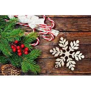 Dekoračné ozdoby na vianočný stromček vločka
