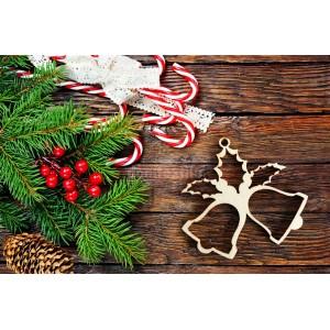 Drevený zvonček na vianočný stromček