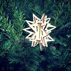 3D ozdoba na stromček v tvare hviezdy