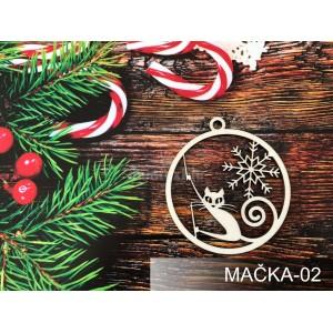 Vianočná ozdoba na stromček s mačkou