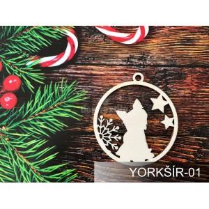 Originálne drevené ozdoby na vianočný stromček