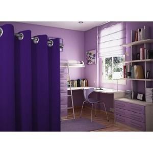 Jednofarebné závesy vo fialovej farbe