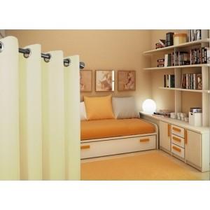 Krémové jednofarebné závesy do obývacej izby