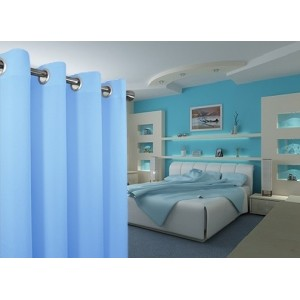 Moderné závesy v modrej farbe do detskej izby