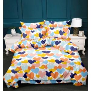 Kvalitná posteľná bielizeň s farebnými srdiečkami