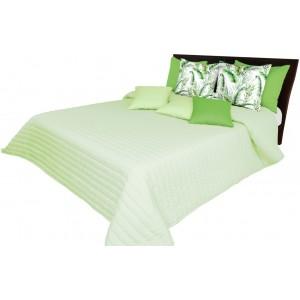 Kvalitný prešívaný prehoz na posteľ svetlo zelenej farby