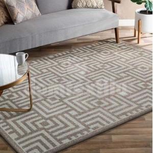 Jemný a elegantný koberec v béžovej farbe