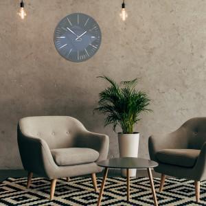 Moderné tmavo sivé hodiny na stenu