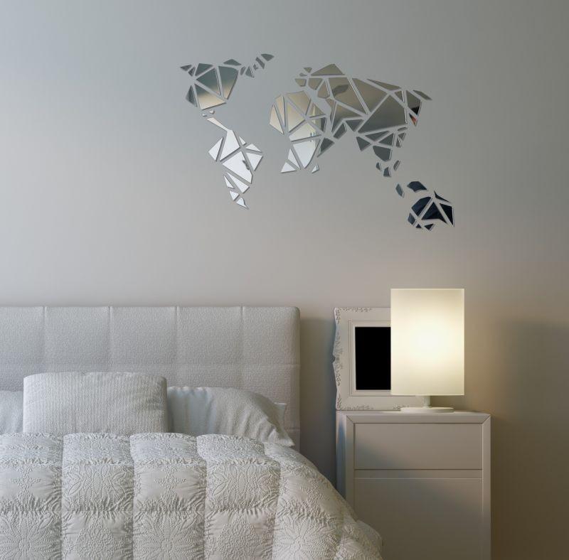 DomTextilu Dizajnové zrkadlo do obývačky Mapa Sveta 12771