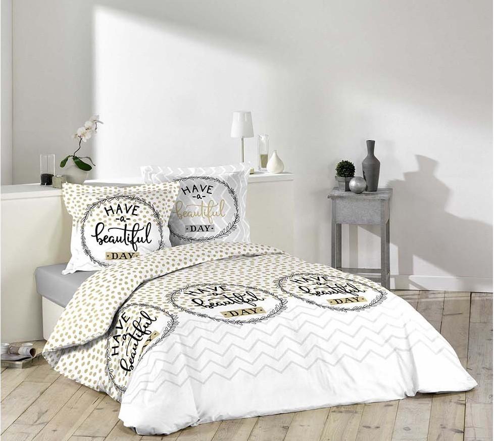 DomTextilu Štýlové posteľné obliečky BEAUTIFUL DAY 200 x 220 cm 12804