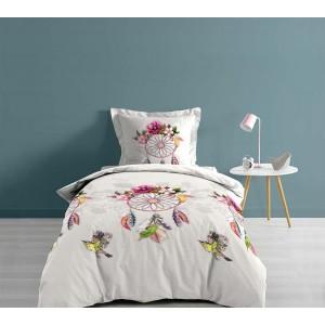 Moderné posteľné návliečky s kvetovaným lapačom snov BOHEMIA