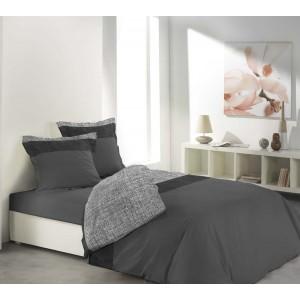 Tmavo sivé posteľné obliečky z bavlny CARMINA ANTHRAITE