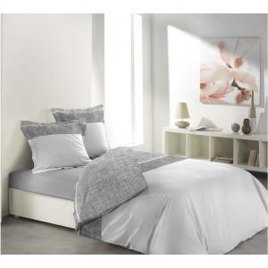 Jednoduché bavlnené posteľné obliečky CARMINA WHITE