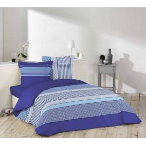 Posteľná bielizeň na maželskú posteľ modrej farby DAMARA BLUE
