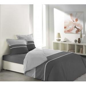 Obliečky na posteľ s dizajnovými pruhmi MADERA ANTHRACITE
