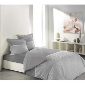 Luxusné posteľné obliečky sivo bielej farby MALICE GREY & WHITE