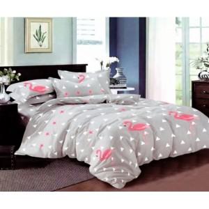 Návlečky na posteľ sivej farby s pelikánom