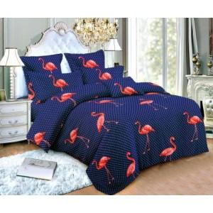 Tmavomodré obliečky na periny s pelikánmi
