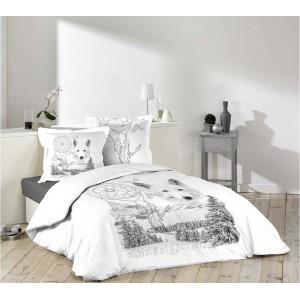 Návliečky na posteľ s motívom zimnej krajiny COYOTE