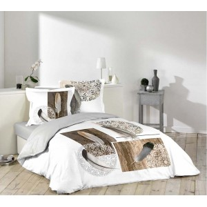 Obliečky na posteľ s motívom pierok YUKI