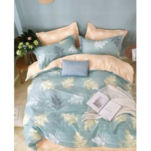 Svetlomodré posteľné obliečky so vzorom páperia