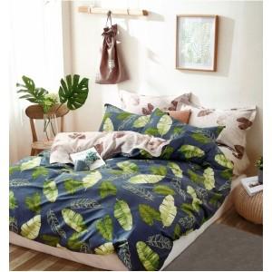 Moderné posteľné obliečky s motívom zelených listov