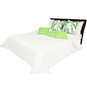 Svetlokrémové prešívané prehozy na posteľ