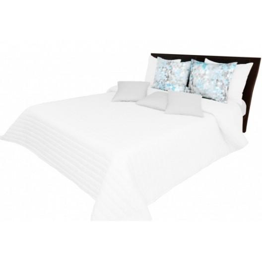 Biely prehoz na posteľ s prešívaním