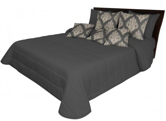DomTextilu Tmavosivé posteľné prehozy Šírka: 75 cm   Dĺžka: 160 cm 12854-102662