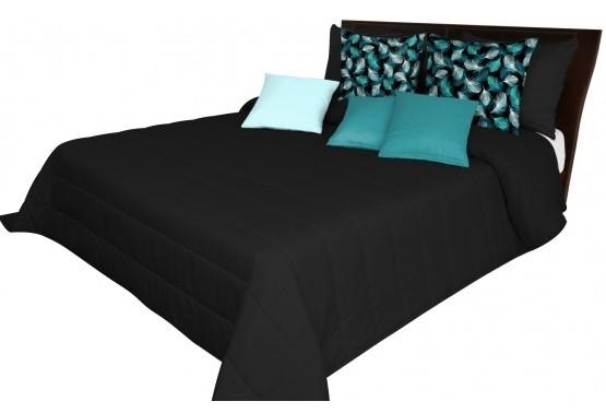 DomTextilu Čierna prešívaná prikrývka na posteľ Šírka: 75 cm   Dĺžka: 160 cm 12855-102678